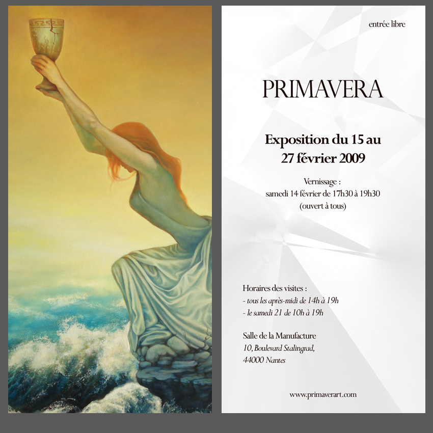 Invitation vernissage Primavera