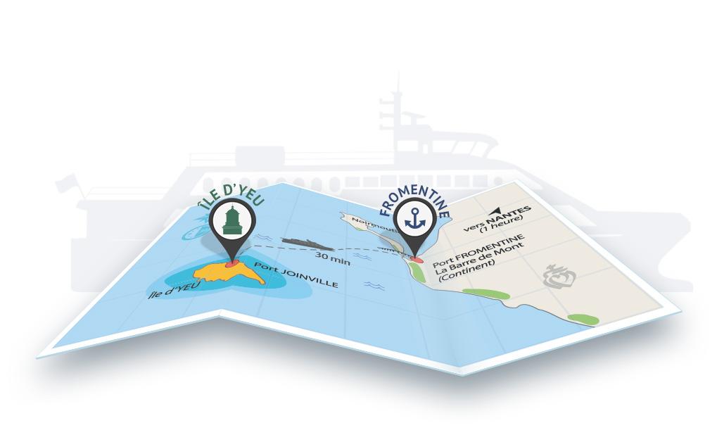 Carte décorative pour Yeu Continent