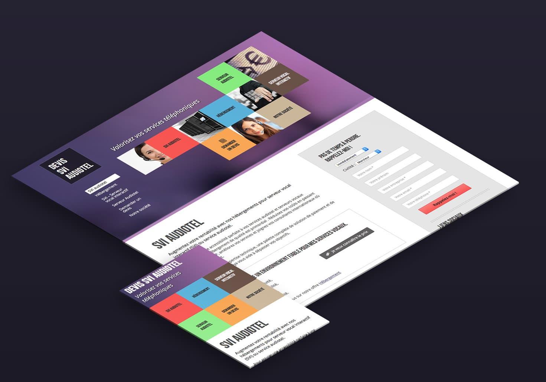 Page d'accueil du site Devis SVI Audiotel