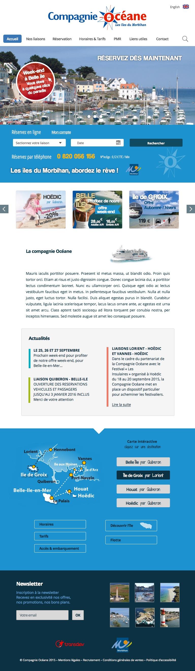version tablette du projet graphique Cie Océane